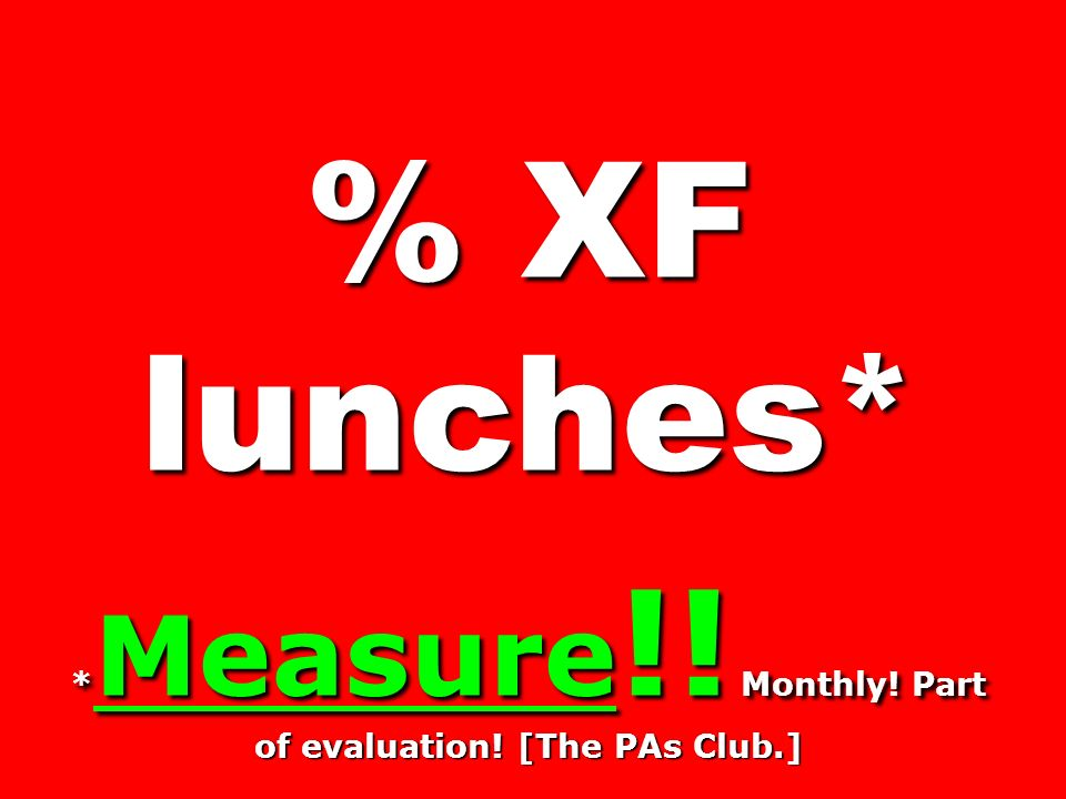 *Measure!! Monthly! Part of evaluation! [The PAs Club.]